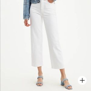 Levi's | Ribcage White Straight Ankle Jeans